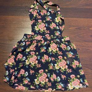 Forever 21 floral print suspender dress